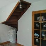 sous ecalier avant création cellier