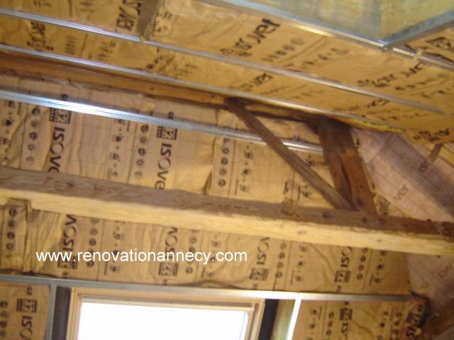 isolation sous toiture plaquiste sur annecy r novation annecy. Black Bedroom Furniture Sets. Home Design Ideas