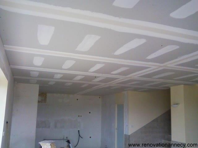 R alisation faux plafond plaquiste sur annecy for Faux plafond renovation
