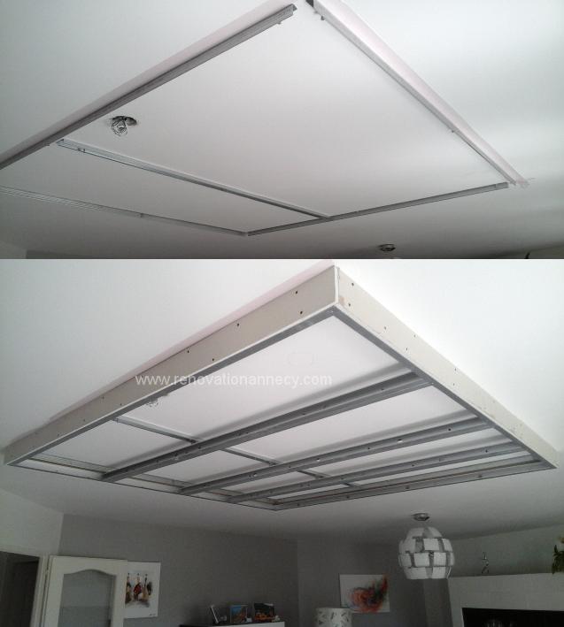 caisson placo plafond led2